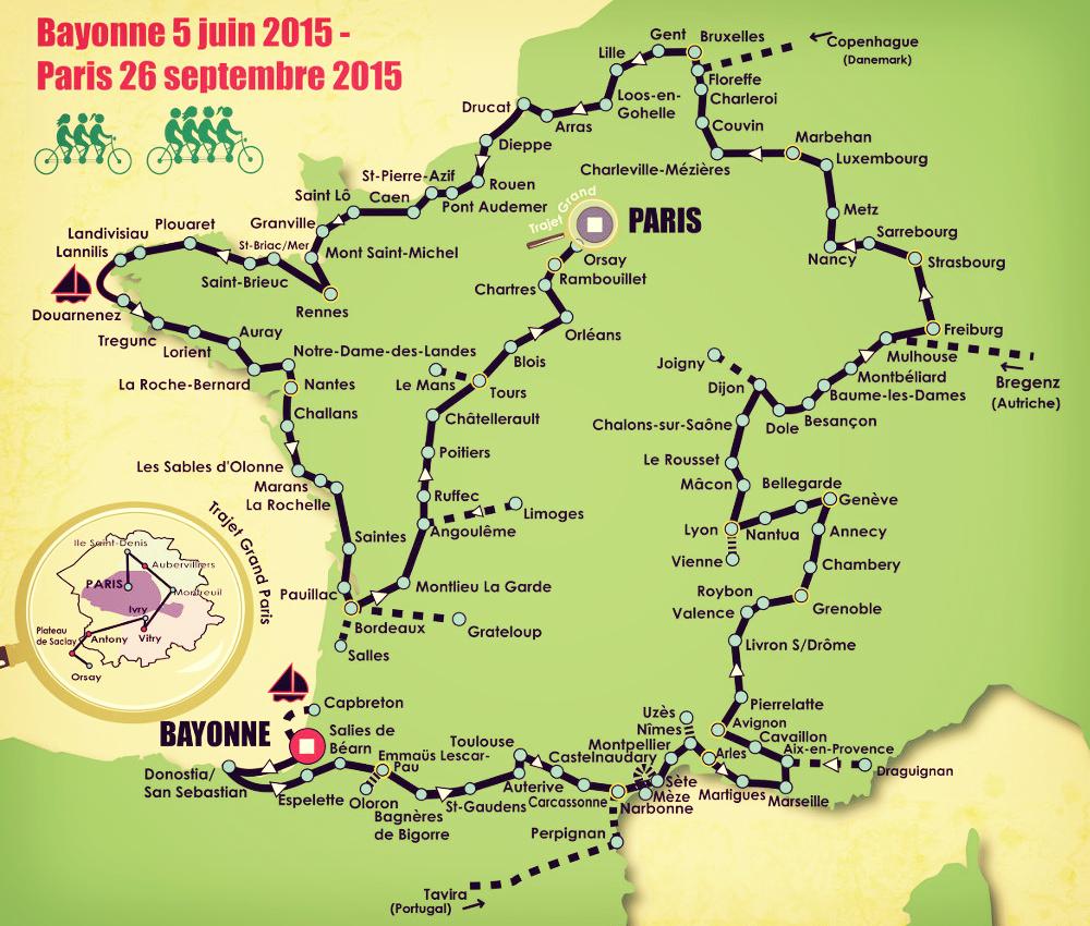 187 étapes, 90 réunions publiques prévues sur le Tour Alternatiba.