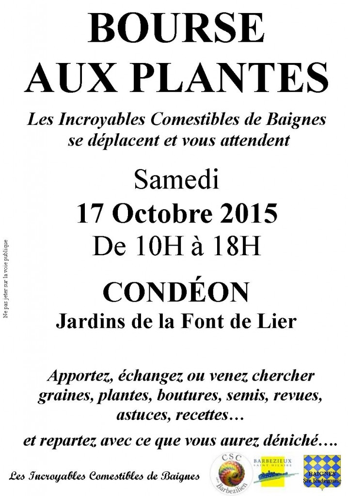 2015.10.17 BOURSE PLANTES CONDEON